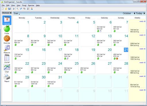 30 days calendar template