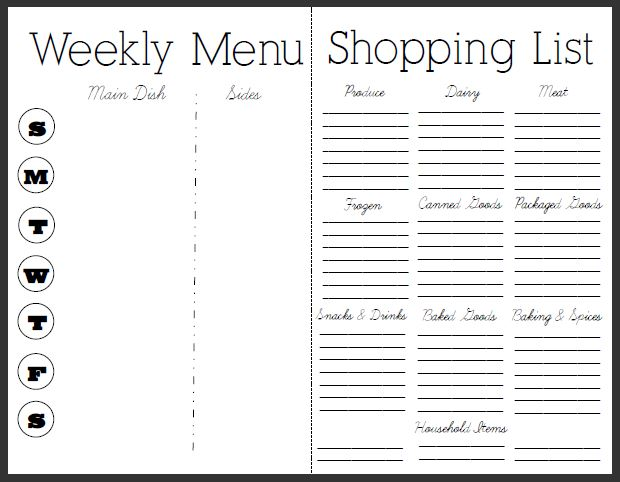 Free Meal Planner and Grocery List | Best Diet Solutions ...