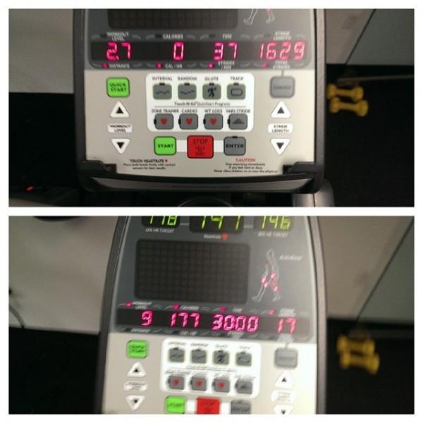 #paulshrinks level 4, wt loss program on elliptical. #bleh