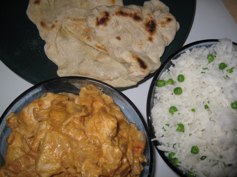 The fruits of my first attempt ever at making Indian food at home