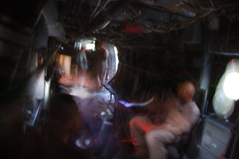 Marine Week Boston, 2010: Bell-Boeing MV-22B Osprey interior, with tourists climbing through