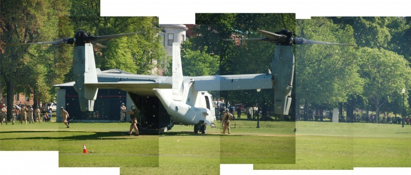 Marine Week Boston, 2010: Osprey getting ready to take off (montage)
