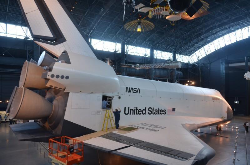 Steven F. Udvar-Hazy Center: Space Shuttle Enterprise (starboard full view, aft)