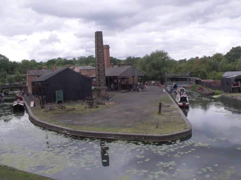 Black Country Living Museum - canal arm - Rolling Mill and Anchor Forge
