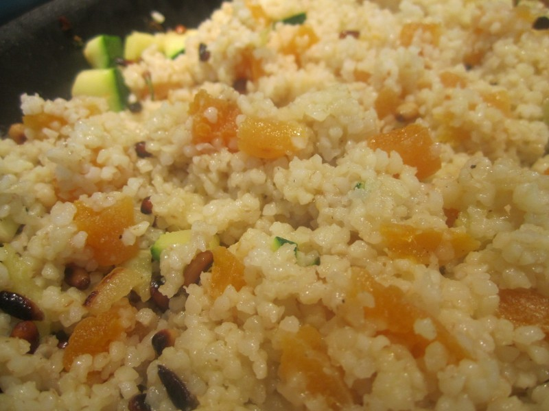 Bulgar Wheat with Apricots & Pinenuts