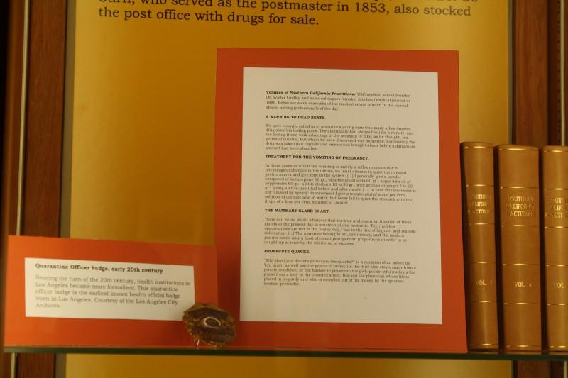 Frontier Medicine exhibit case 7