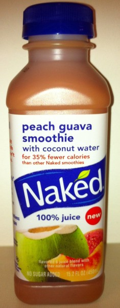 Naked Juice bottle - peach guava smoothie cropped