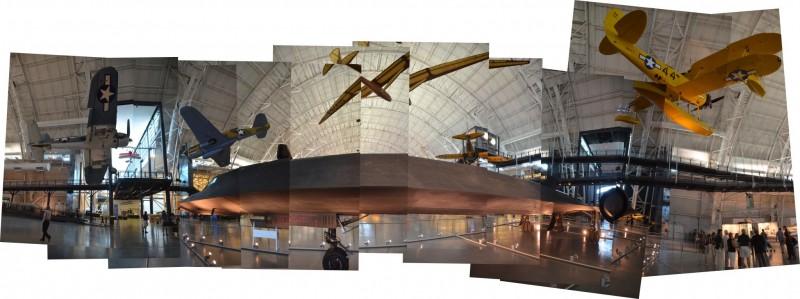 Steven F. Udvar-Hazy Center: Photomontage of  SR-71 on the port side
