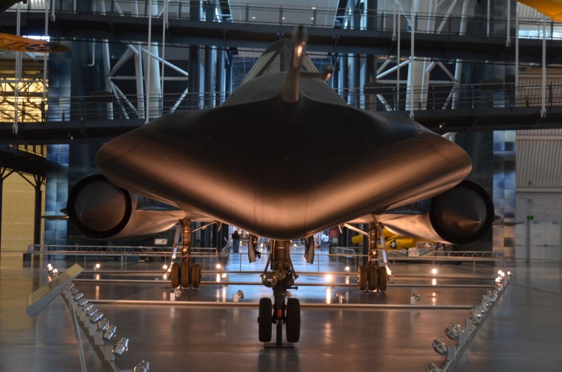Steven F. Udvar-Hazy Center: SR-71 Blackbird (nose view)