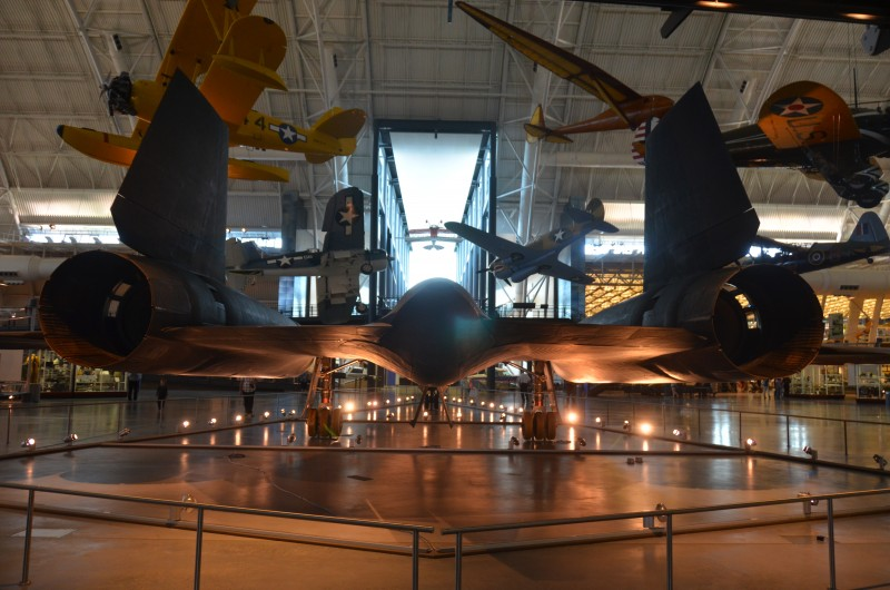 Steven F. Udvar-Hazy Center: SR-71 Blackbird (tail view)