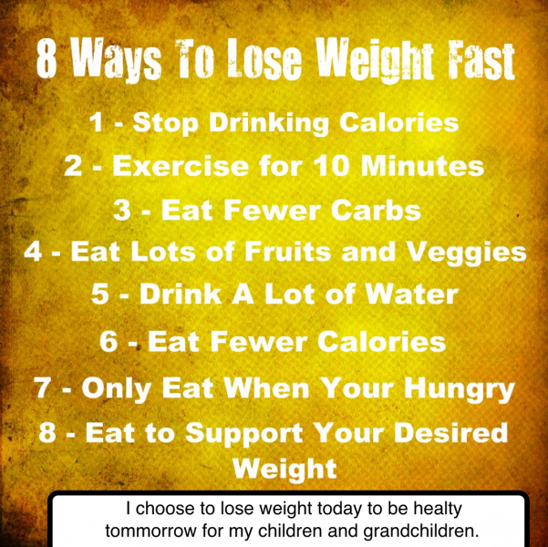 ways to lose weight healthy and unhealthy