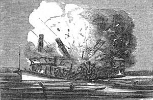 Lucy Walker Steamboat Explosion, 1844