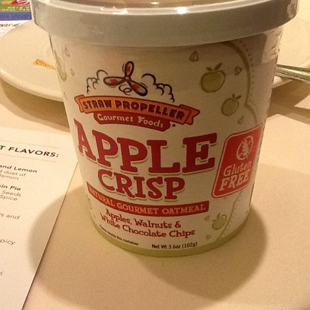 Gluten-free apple crisp oatmeal