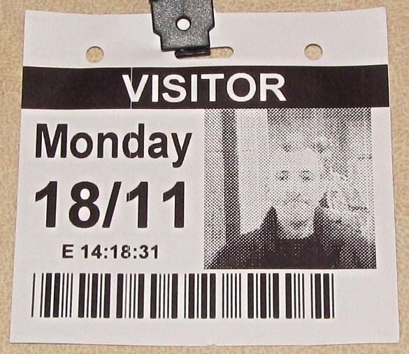 London November 18 2013 028 Parliament Visitor Pass