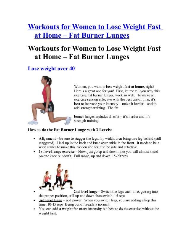fast weight loss exercises for girls