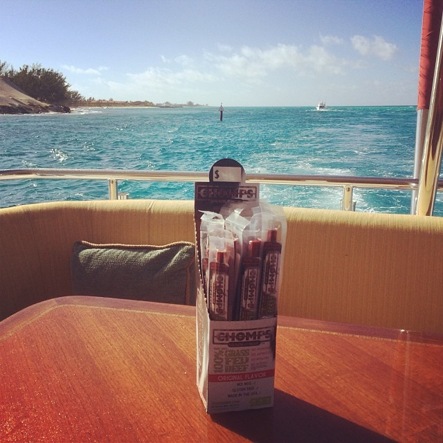 healthy snakcs | grass fed beef sticks | chomps sticks in yacht