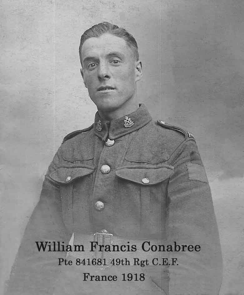 Private William Francis Conabree CEF WW1