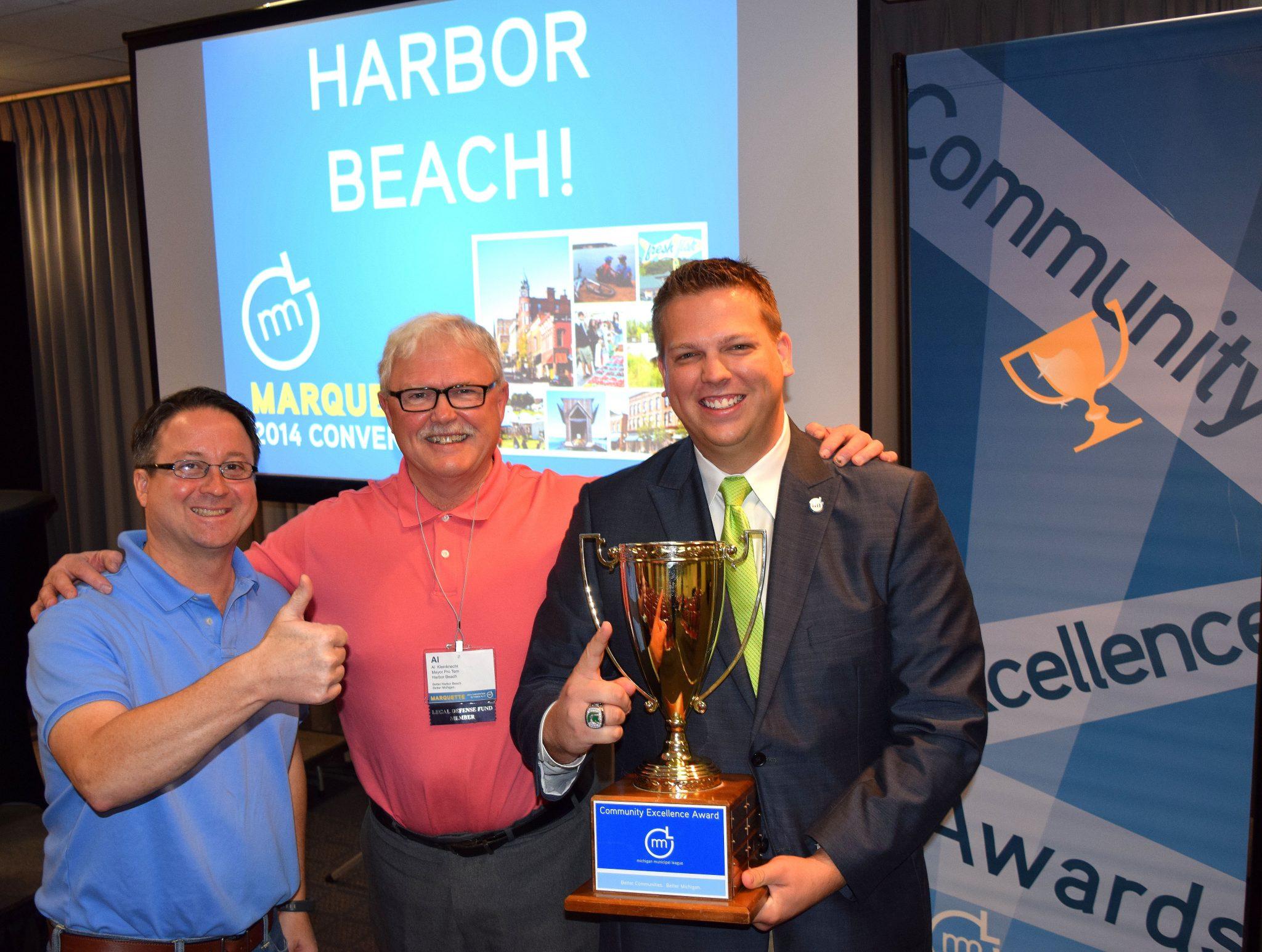 Harbor Beach Wins 2014 Michigan Municipal League Community Excellence Award
